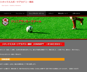 ジオックススポーツアカデミー横浜ジュニアサッカースクール